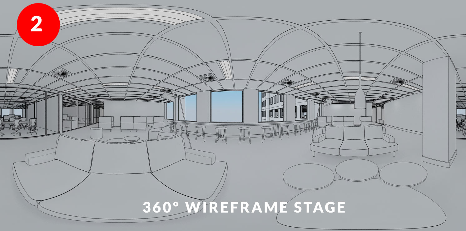 Step 2 - Wireframe checking image of Collaboration Hub Fitout