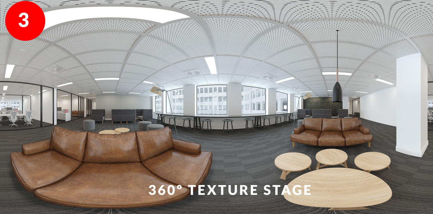 Step 3 - Texture and Colour checking image of Collaboration Hub Fitout