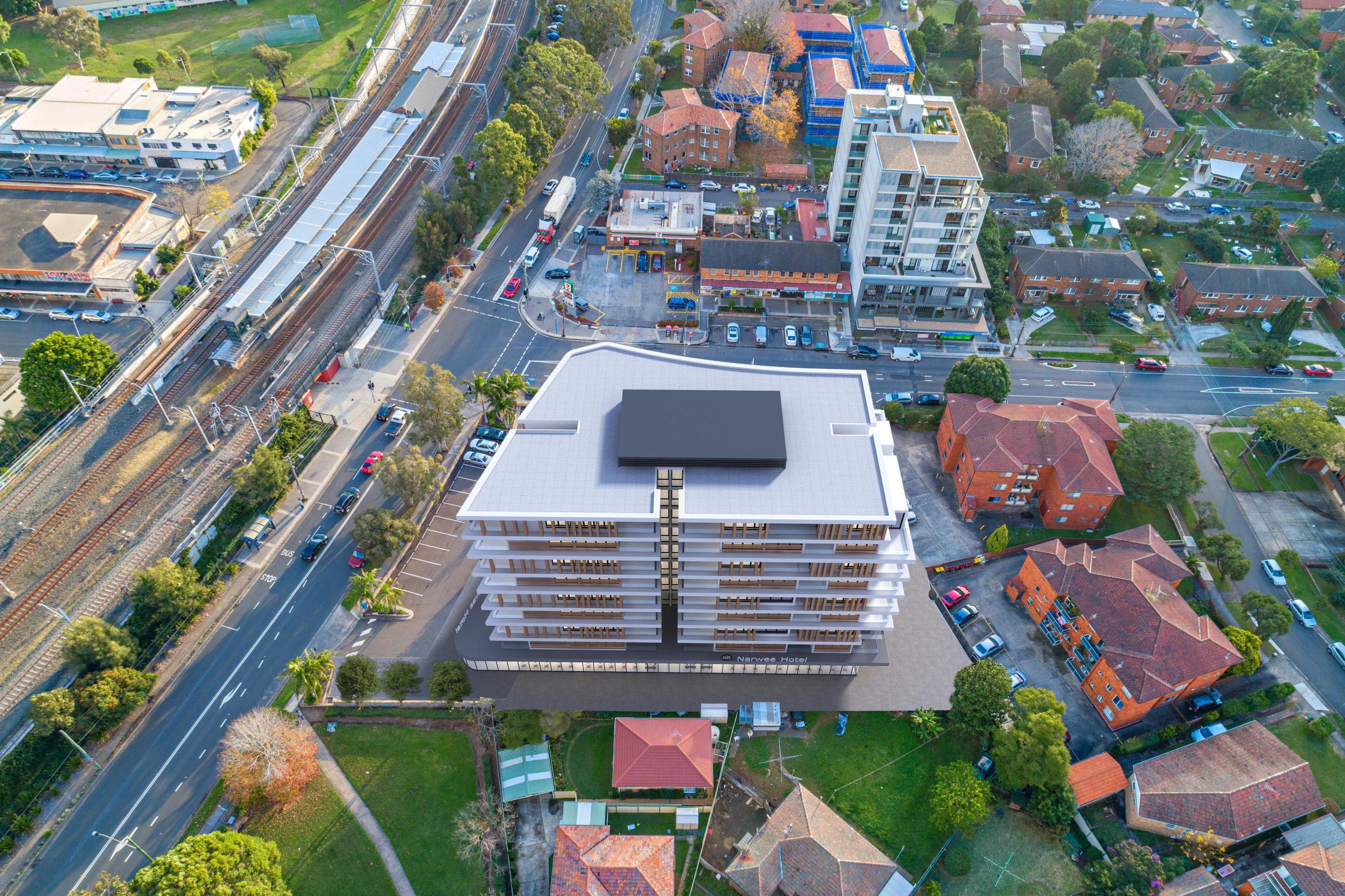 aerial perspective artist impression photomontage