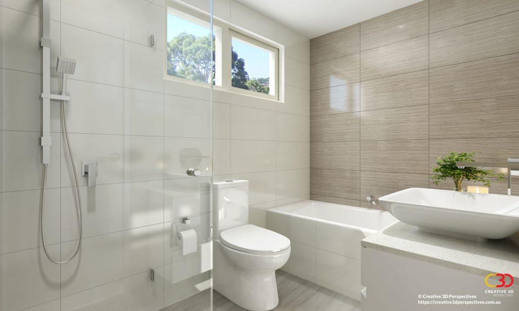 Bathroom interior tiles 3D Architectural Interior Artist Impression