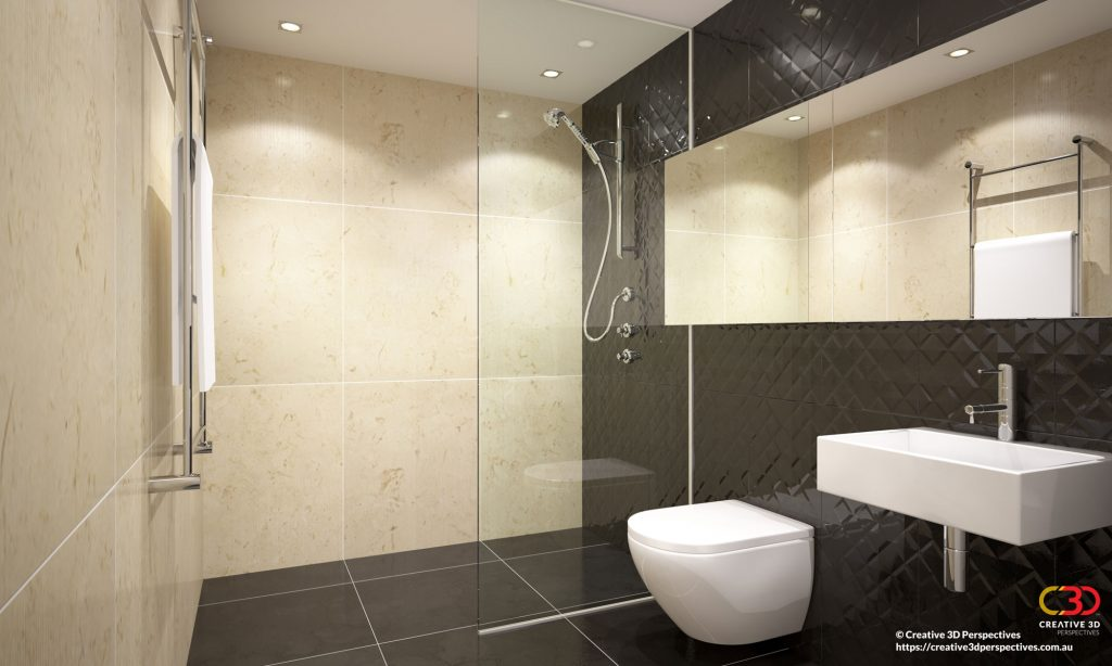 Bathroom 3D Architectural Interior Artist Impression