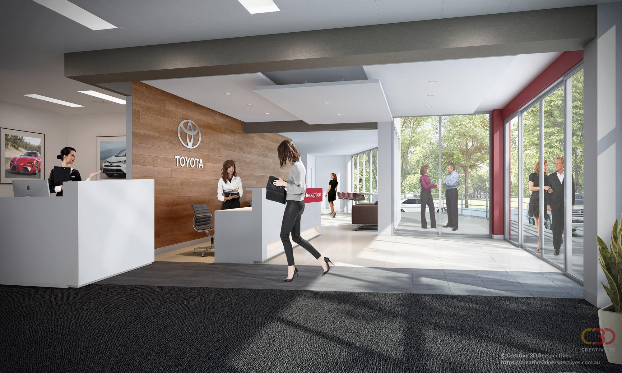 Toyota Service Centre Artarmon NSW - Reception Area